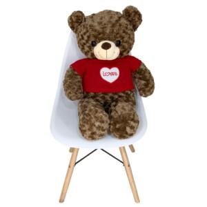 Gấu Bông Cao Cấp Teddy Áo Len Hình Tim Size 80cm