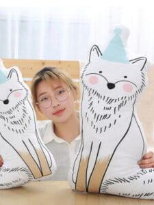 Bộ 4 Thú Bông Trang Trí Mèo,Cáo, Chó, Sóc