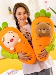 Gấu Bông Trái Cây Cà Rốt Hình Mặt Thú Cưng