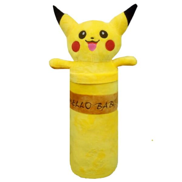 Gối ôm cao cấp viền cổ Pikachu màu vàng