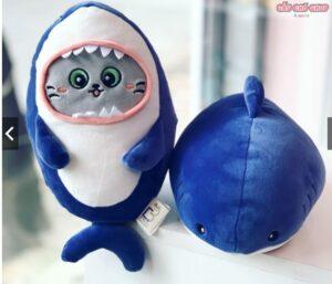 gấu bông mèo cosplay cá mập siêu cute