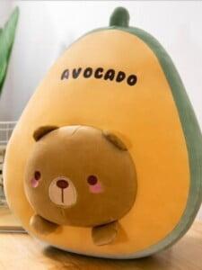 Gấu Bông Trái Cây Qủa Bơ Hình Mặt Thú Cưng