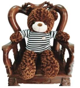gấu bông teddy xám