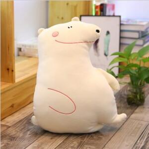 Chú gấu bông trắng tinh nghịch
