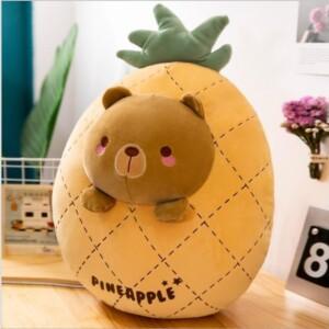 gấu bông trái cây quả dứa hình mặt thú