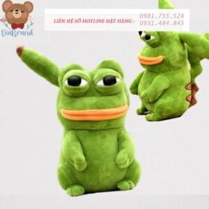 Gấu bông Pikapepe ếch xanh giận dữ ngu ngốc đáng yêu
