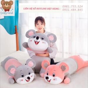 Thú nhồi bông ôm ngủ hình chuột dài 1 mét dễ thương