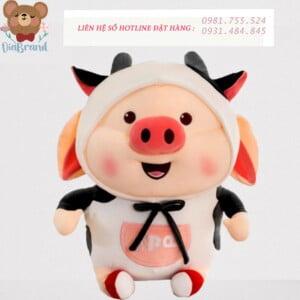 Thú bông heo tiktok bò sữa cute 60cm