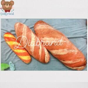 Thú nhồi bông in 3d hình bánh mì siêu thật 2 size